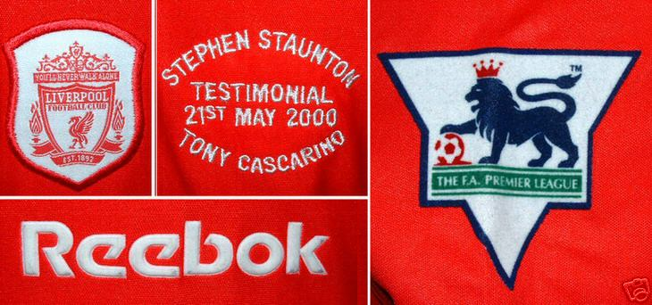 Liverpool 2000 Steve Staunton / Tony Carscarino Testimonial Player Shirt