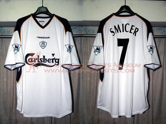 reputable site 1f27b 4fff1 The Liverpool Shirts Museum: 2001-2002 Away Player Shirt