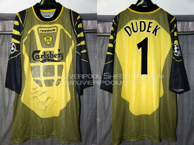 Liverpool 2002-2003 Champions League Away Goalkeeper Player Shirt