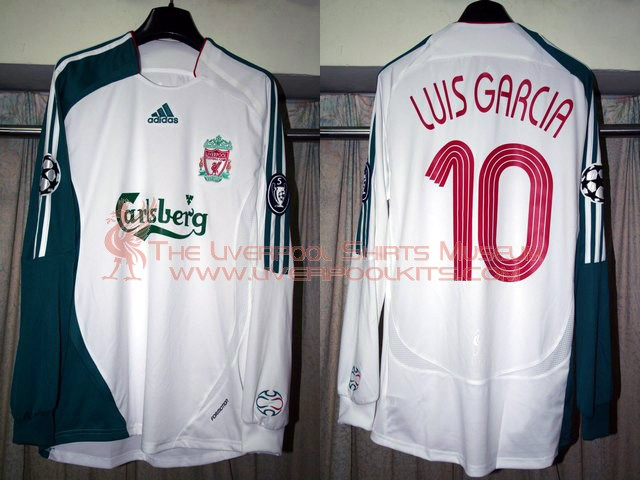 95b768defa0 The Liverpool Shirts Museum  2006-2007 Third Champions League Player Shirt.