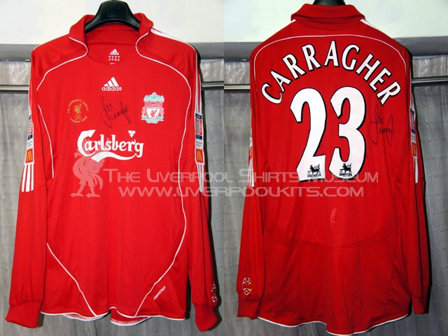 07b7accb8 This page shows the evolution of Liverpool genuine player shirts used in the  2000s. Starting from season 2006-2007 onwards