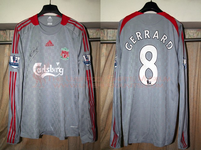 c3feae0dbde Liverpool 2008-2009 Away Champions League Player Shirt (no Carlsberg)