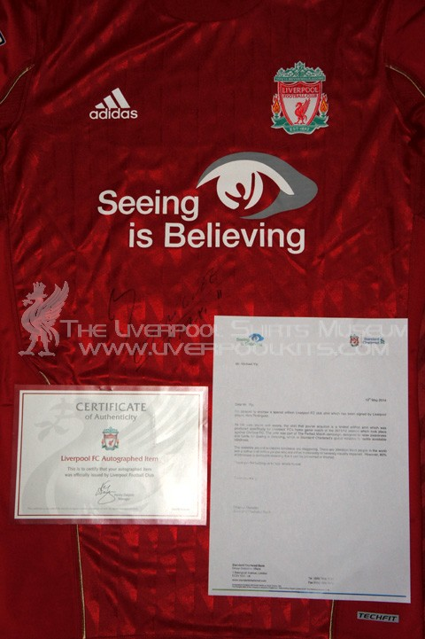 Adidas Liverpool Seeing Is Believing Techfit Football Shirt