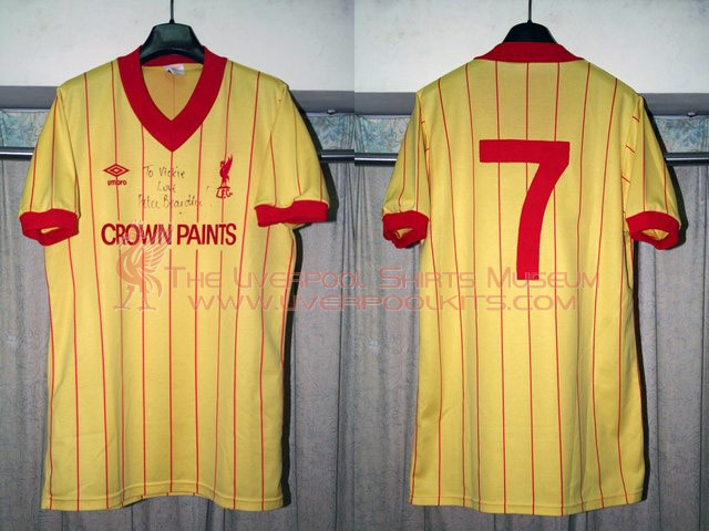 buy online 5890f 27c04 The Liverpool Shirts Museum: 1982-1984 Away Player Shirt ...