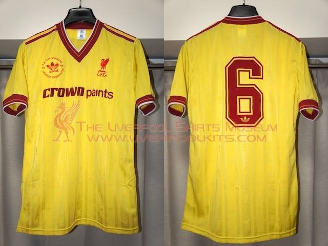 huge discount d184a 34f9e The Liverpool Shirts Museum: 1986-1987 Liverpool Double ...