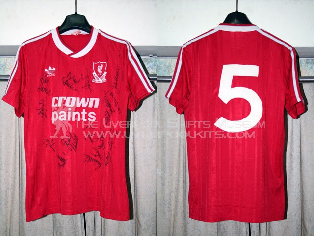 reputable site 1aaae b131f The Liverpool Shirts Museum: 1987-1988 Home Player Shirt