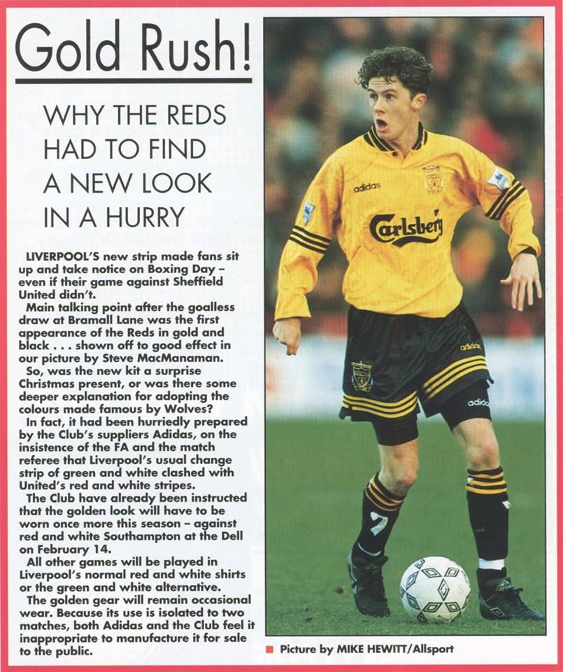 brand new 8d609 53d5a The Liverpool Shirts Museum: 1993-1994 Third Player Shirt