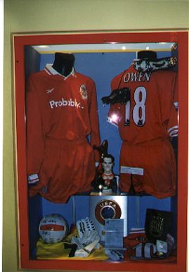 One of these shirts is exhibited in Anfield Museum.